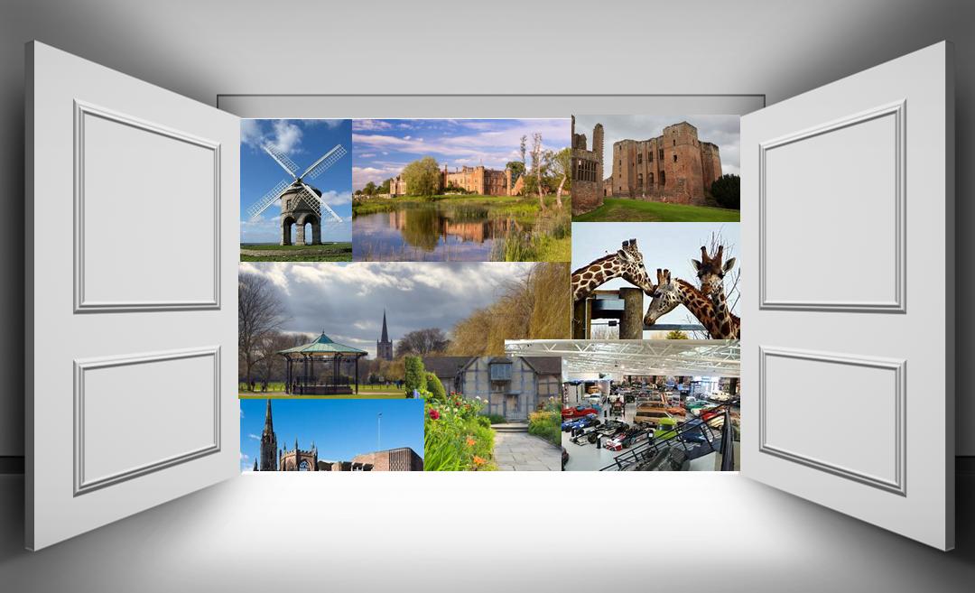 visitor attractions through open doors